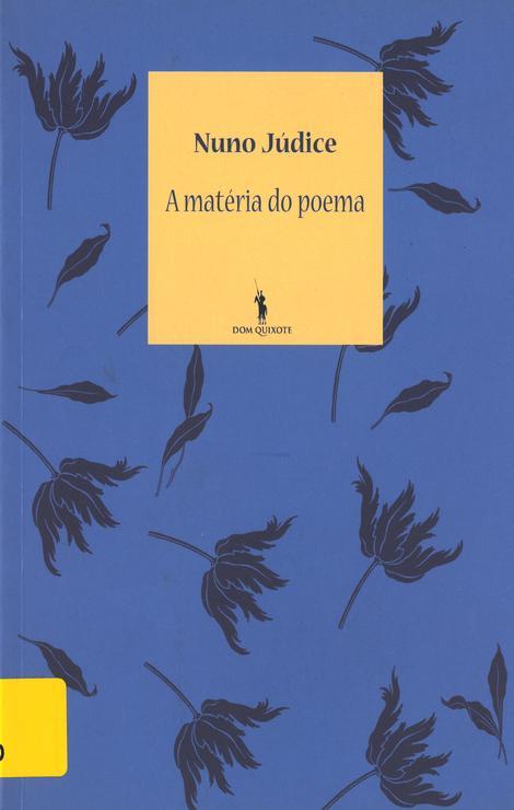 A matéria do poema