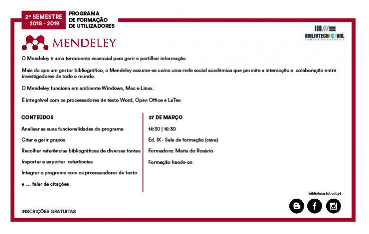 Formação Mendeley