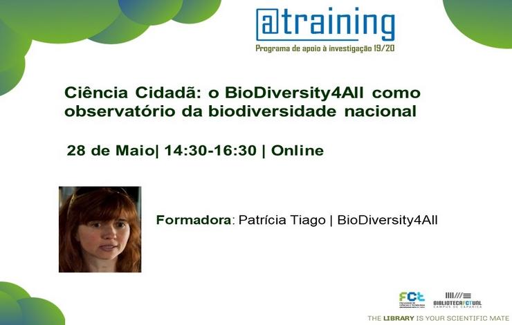 Formação Ciência Cidadã: o BioDiversity4All como observatório da biodiversidade