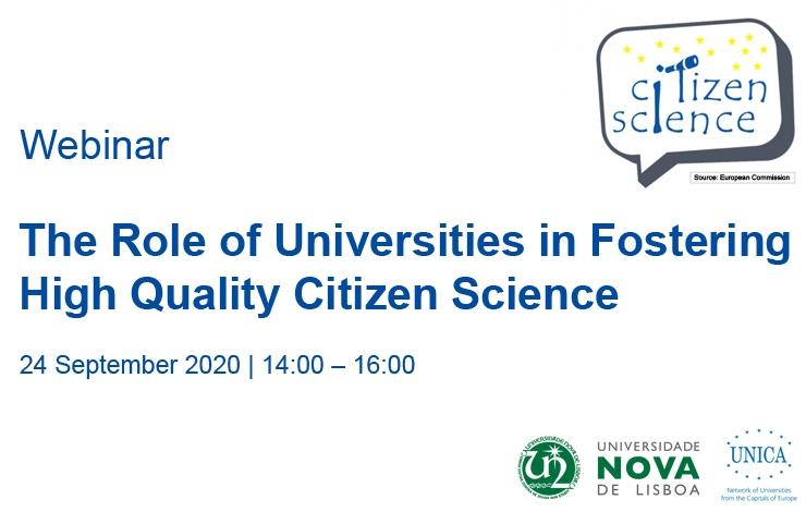 Webinar The Role of Universities in Fostering High Quality Citizen Science