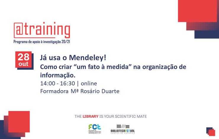 Formação Online | Já usa o Mendeley!