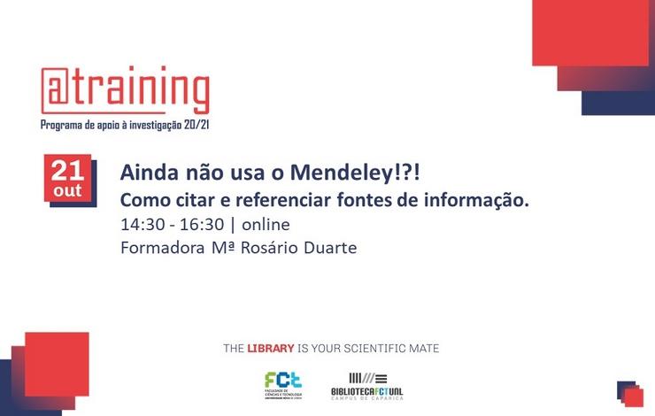 Workshop | Ainda não usa o Mendeley!?!