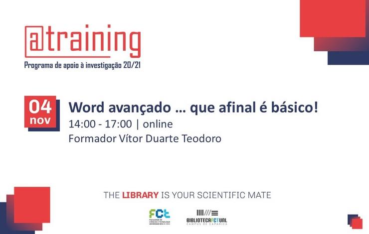 Formação Online | Word Avançado... que afinal é básico