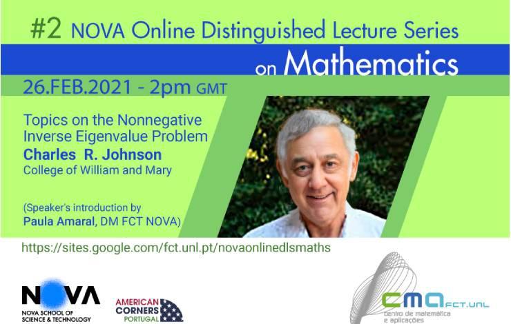 Charles Royal Johnson na 2.ª sessão da NOVA Online Distinguished Lecture Series