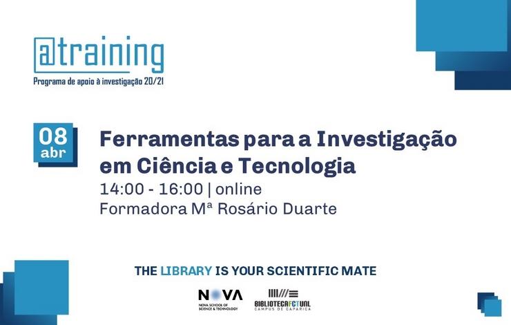 Formação | Ferramentas para a Investigação em Ciência e Tecnologia