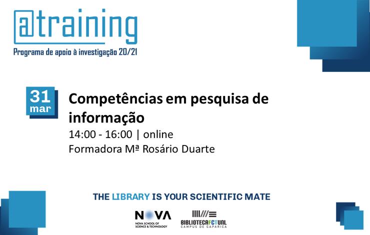 Formação | Competências em Pesquisa de Informação