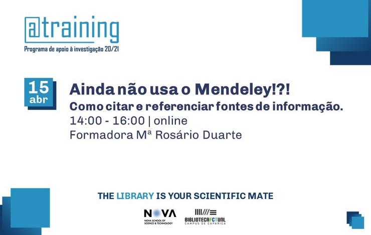 Formação | Ainda não Usa o Mendeley !?!