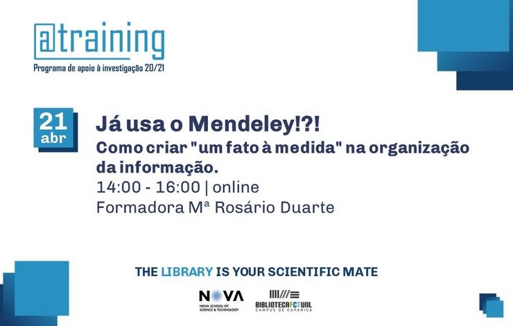 Formação | Já Usa o Mendeley !?!