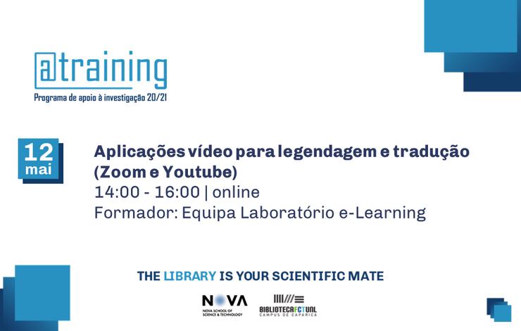 Formação | Aplicações Vídeo para legendagem e tradução